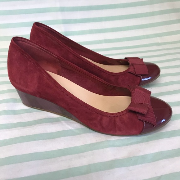 Poshmark Cole Shoes Round Patent Haan Toe Burgundy Suede Wedge qpxZ8wBq